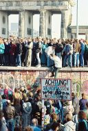 At the Brandenburg Gate, 10 November 1989.