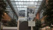 An exhibition dedicated to the 25th anniversary to the Berlin Wall destruction was located at Potsdamer Platz Arkaden.