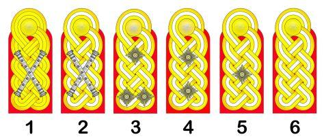 Generals' shoulderboards, Wehrmacht (Heer)