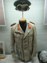 Replica of Rommel's Afrika Korps uniform. Originally it was thought to be an original when displayed at the museum.