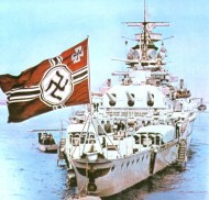 May 1937: Admiral Graf Spee at the Spithead Naval Review representing Germany at the coronation of King George VI.