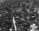 Ruins of Hildesheim aerial view Binderstrasse Thega St. Andreas 1945.