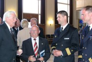 Reinhard Hardegen and other modern day naval officers.
