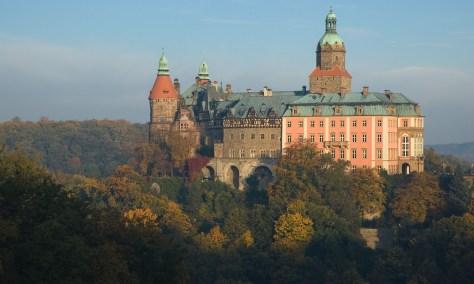 Książ castle in Wałbrzych, Poland.