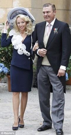 Aristocrats: Prince Charles de Bourbon-Two Siciles and his wife Princess Camilla Crociani.