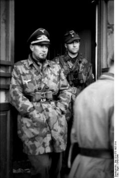 Battalion commander of the Fallschirmjäger, Walter Gericke wears Camouflage Jacket, M1942.
