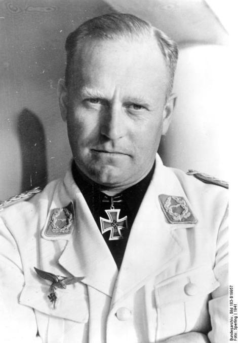 Edgar Petersen wearing white tunic uniform.