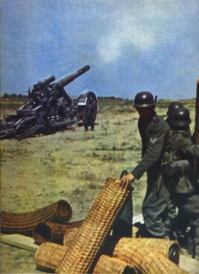 Shelling onto Soviet positions.