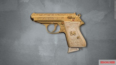 Rock Island Auction is putting this gold-plated Walther PPK semiautomatic pistol was once owned by notorious Nazi leader Hermann Göring up for bid.