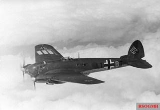 A German Heinkel He 111 Bomber.