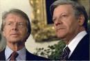 U.S. President Jimmy Carter and Schmidt in July 1977.