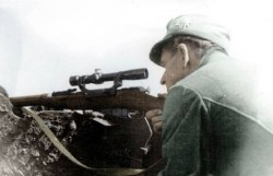 German sniper with Soviet Mosin Nagant.