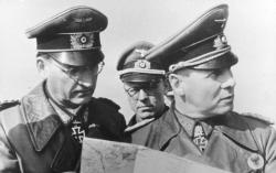 Speidel with Erwin Rommel, April 1944.