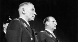 General Heusinger, left, and General Speidel in 1955.