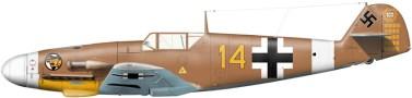 Messerschmitt Bf 109 F-4/trop, W.Nr. 8673 – 3./JG 27 – Hauptmann Hans-Joachim Marseille in September 1942.