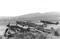 Bf 109's of I./JG 52 at Anapa, early 1944.