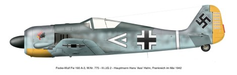 Fw 190A-3 similar to the one used by II, III and IV./JG 1.