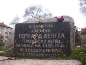 """Hauptmann Gerhard Wengel Gruppenkommandeur of I./JG 5 """"Eismeer"""" memorial slab in Sofia."""