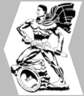 """Emblem of Jagdgeschwader 11. Based on Arno Breker's """"The Guardian""""."""