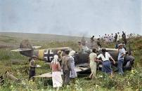 Bf 109 e-7 of 11JG 77 shot down near Tirapol region, southern front June 1941.