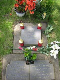 Michael Wittmann's grave including his men of his panzer.