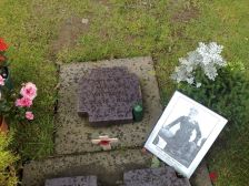 Michael Wittmann's grave with photo.