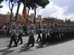 Wachbataillon soldiers on parade in Rome.