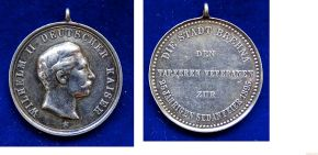 Silver Medal Day of Sedan 1895 awarded to Prussian war veterans by the small town of Brehna near Halle, today in Sachsen-Anhalt.