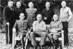 Another picture from German officers at Trent Park: Back row from left to right: General der Infantrie Dietrich von Choltitz, Oberst Gerhard Wilck, General der Fallschirmtruppe Hermann-Bernhard Ramcke, Generalmajor Kurt Eberding, Oberst Eberhard Wildermuth. Front row from left to right: Generalleutnant Rüdiger von Heyking, Generalleutnant Karl-Wilhelm von Schlieben, Generalleutnant Wilhelm Daser.