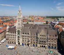 The New Town Hall and Marienplatz.