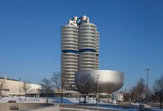 BMW Headquarters building (one of the few buildings that has been built from the top to the bottom) and the bowl shaped BMW museum.
