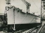 Blücher launching at Kiel, 8 June 1937.