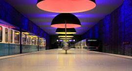 Westfriedhof platform of the Munich U-Bahn.