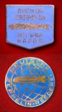 Zeppelin passenger lapel pins.