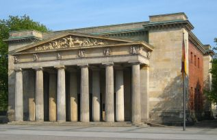 Neoclassical portal on Unter den Linden.