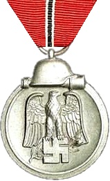 """Over three million German and axis personnel were awarded the Eastern Front Medal for service during 15 November 1941 – 15 April 1942. It was nicknamed the Gefrierfleischorden – """"frozen meat-medal""""."""