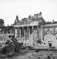 Reichstag in postwar occupied Berlin, 3 June 1945.
