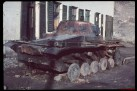 German tank burned during the conquest of Warsaw.