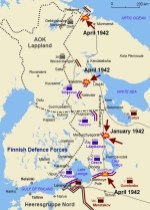 Trench warfare of the Continuation War in 1942; the Soviets made four major assaults, which all were repelled.
