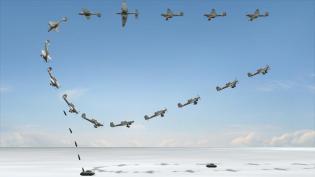 Ju 87 diving procedure.