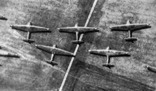 Messerschmitt Me 321 gliders on airfield 1942.