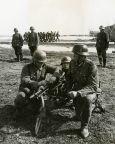 Spanish soldiers practising fieldcraft.