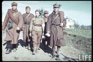 A large proportion of the Polish army was captured after the fall of Poland in September 1939: around 400,000 men by the German forces and over 200,000 by Soviet troops.
