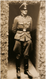 Mr. Misch in his S.S. uniform in Poland in 1944. His interviews and appearance in documentaries, as well as the publication of his memoir, made him a minor celebrity.
