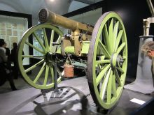 A French mitrailleuse in the Bundeswehr Military History Museum.