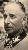 """SS Colonel Group Leader and Colonel General of the Waffen SS Paul """"Papa"""" Hausser."""