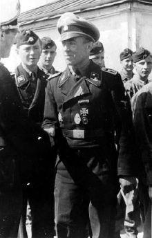 SS-Standoberjunker Paul Senghas shortly after being awarded the German Cross in Gold in June 1943.