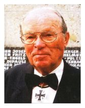 Wilhelm Walther at the age of 90 at a commemoration of the Order of the Knights Cross.