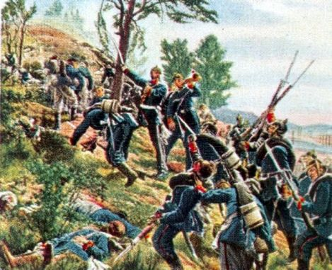 Storming of the Red Mountain of Spichern by Major General von François , 6th August 1870.