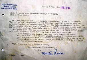 Letter from custody.